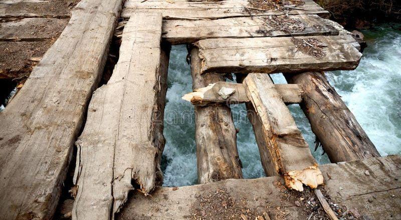 Nord-Kivu : Plusieurs ponts érigés sur la rivière Kilabu sont au point de céder