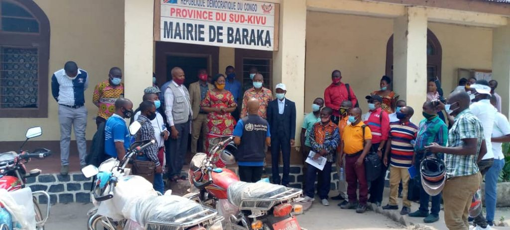 Sud-Kivu : la zone de santé de Fizi est dotée des motos et médicaments de la part de l'OMS à Baraka